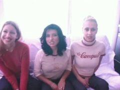Fotzen Casting bei drei Mädels
